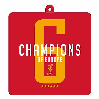 Liverpool FC Red UCL Champions Air Freshener  LFC Official