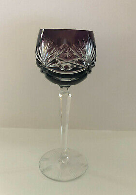 VINTAGE BOHEMIAN STYLE CRYSTAL ROEMER (Römer) WINE GLASS FROM GERMANY - GRAPE