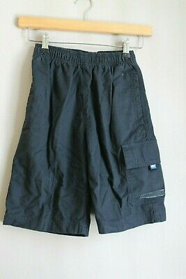 Quiksilver Kids Boys High Voltage Navy Blue Knee Length Cargo Shorts Skate Surf
