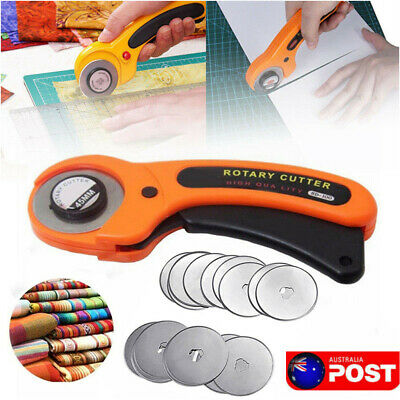 20Pcs 45mm Rotary Cutter Refill Blades+ Quilters Sewing Fabric Cutting Tools Set