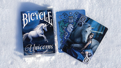 CARTE DA GIOCO BICYCLE ANNE STOKES UNICORNS,poker  size,playing cards