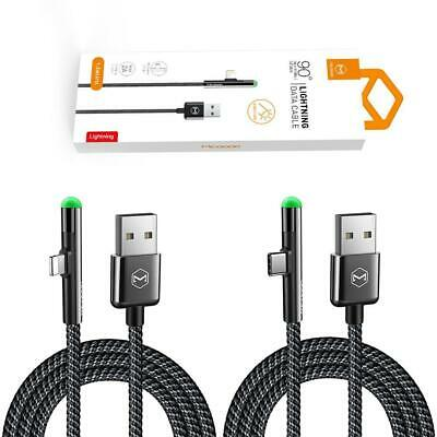 90 degree elbow iPhone USB Lightning Charging Charger Cable Data Cord