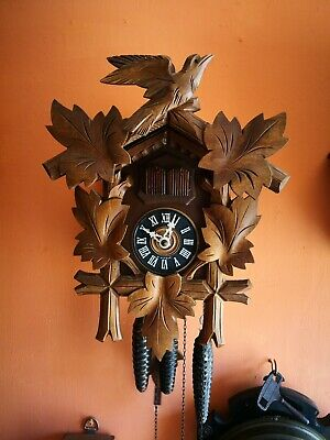 Vintage Musical Cuckoo Clock Spares Or Repairs