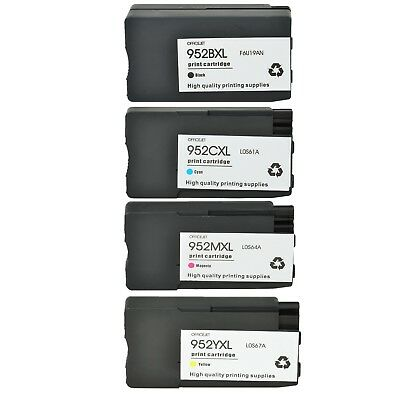 Ink Cartridge Compatible For HP 952XL Black / Cyan / Magenta / Yellow Officejet