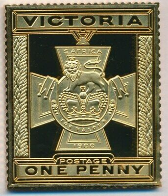Australia: 1988 24ct Gold on Stg Silver Stamp $99.50 Issue Price. Victoria Cross