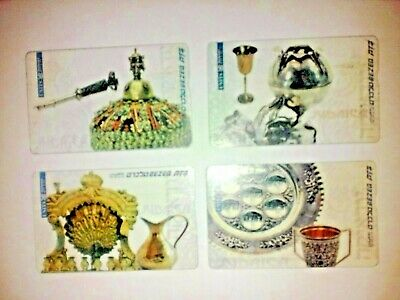 Israeli Bezeq Phone Cards. 4 Telecards 50 Units Each One.judaica. Collectors.