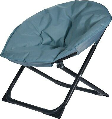 Blue Foldable Childs Moon Chair Camping Garden Fishing Beach Childrens Chair