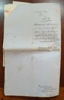 1848 Large Indenture & Auction Catalogue for Properties in Eye, Occold & Horham