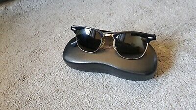 Vintage 1980's B&L Ray Ban Clubmaster W0365 Sunglasses Bausch & Lomb