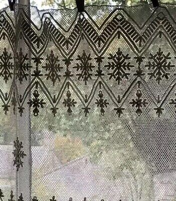 "Beautiful Antique French Chateau Handmade Needle Lace Panel 21""/100"" -Projects"