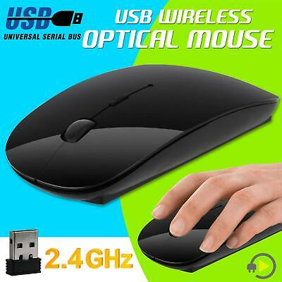 New Wireless 2.4 GHz Cordless Optical Scroll USB Mouse For PC Laptop Computer