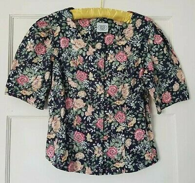 Vintage Laura Ashley floral puff sleeve top 10/ 12