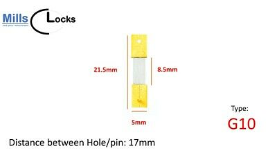 Brass French Clock Pendulum Suspension Spring. (27.5mm x 10.5mm x 5mm)  (G10)