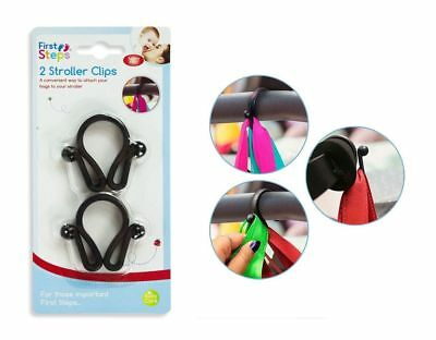 Mummy Buggy Stroller Pram Shopping Bag Holder Clips Hook