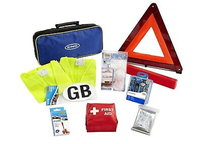 Ring Automotive Rct1 European Travel Kit (First Aid Kit/Breathalyzers) Carry Bag