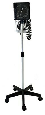 Clock Aneroid Sphygmomanometer, Rolling Stand Mounted
