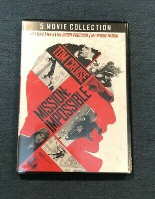 Mission: Impossible - 5 Movie DVD Collection, Tom Cruise