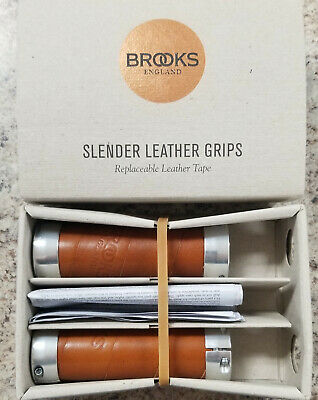 0e6ebcc889 BROOKS SLENDER LEATHER Grips Black for parts (Please read ...