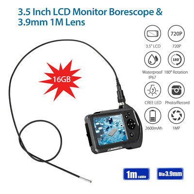 Portable NTS150 1M 3.9mm 1MP HD 3.5Inch 720P 2x Zoom IP67 Industrial Endoscope