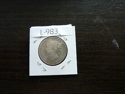 newfoundland CANADA  1896 50 cent  silver coin L983
