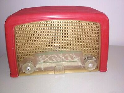 Radio Philips bf 121 Années 50 rouge