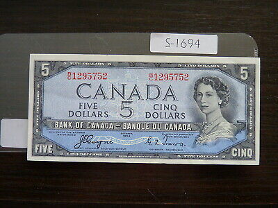 Banknote Canada 1954  5  Dollar Devil Face  Value 225.00   S1694