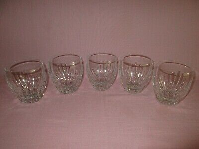 Vintage Baccarat France Crystal Glass Set of 5 Massena Tumbler Rocks Glasses