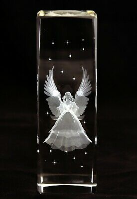 A Medium/Large Sized Laser Etched Angel - Decorative Paperweight/Ornament