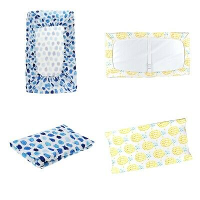 2Pc Baby Changing Table Pad Cover Toddler Protective Mattress Crib Bed Sheet
