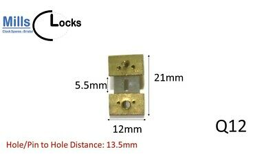Brass Clock Pendulum Suspension Spring. (15.5mm x 1.5mm x 9mm)  (Q20)