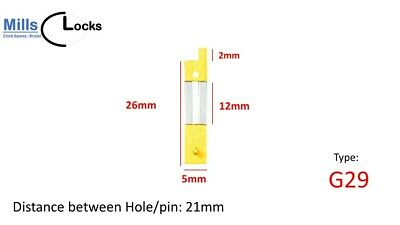 Brass French Clock Pendulum Large Suspension Spring. (29mm x 13.5mm x 6mm) G29