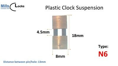 French Clock Pendulum Suspension Spring. (22.5mm x 10.5mm x 5mm) Type G30