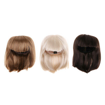 Dolls DIY Repairing Replacement Part Straight Wig Hair For 1/3 BJD SD Dolls