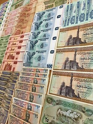 100 DIFFERENT PAPER Money From 100 Countries World Banknotes