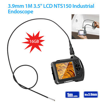 """NTS150 1M Cable φ3.9mm 1MP HD 3.5"""" LCD 6 LED Industrial Borescope Video Camera"""