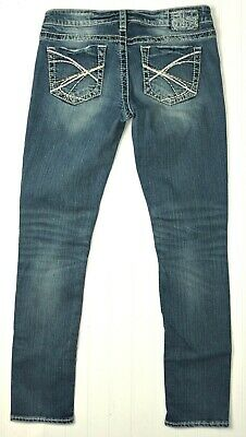 94d2e94f Silver Jeans AIKO SKINNY 29 x 30L Sexy Distressed Stretch Jeans ~FABULOUS!