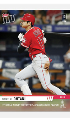 2019 TOPPS NOW CARD ANGELS SHOHEI OHTANI #371 1st CYCLE HIT BY JAPANESE BORN P
