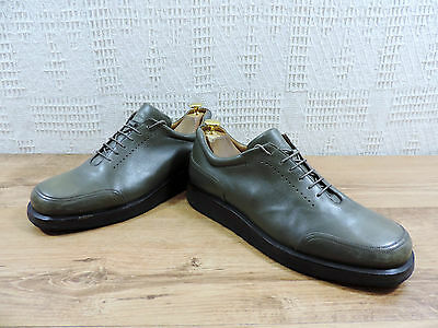 a4f1938e4bd5a9 Bally Fabrication Italienne Cuir Gris Homme Chaussures à Lacets UK 9.5 US  10,5 E