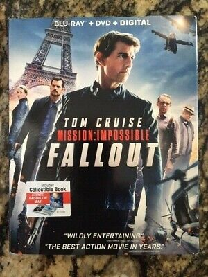 Mission Impossible Fallout  (Blu Ray + DVD + Digital) w/ SLIPCOVER & Book B120