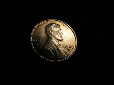 1969-S GEM BU Double Die Obverse Red Lincoln Cent #2