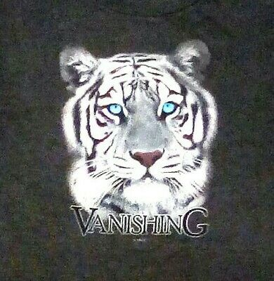 Siberian WHITE TIGER with BLUE EYES T-shirt, X- Large