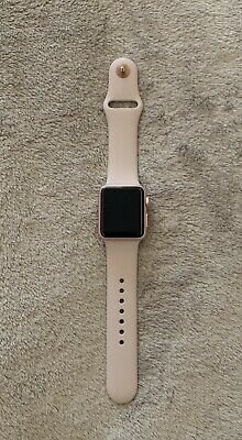 uk availability 6ce83 d8c68 APPLEWATCH SERIES 1 38mm Rose Gold Aluminum Case With pink band ...