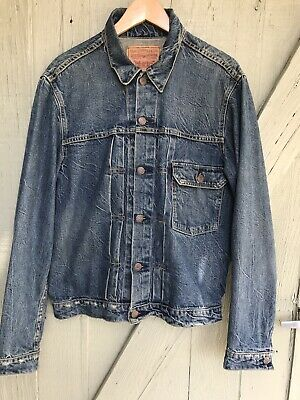 a95c7d03 90'S LEVIS 506 XX (1936 Repro Type 1) Denim Jean Jacket 36 Red Tab ...