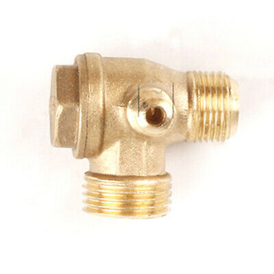 Universal Air Compressor 3 Port Brass Male Threaded Check Valve Connector Tools