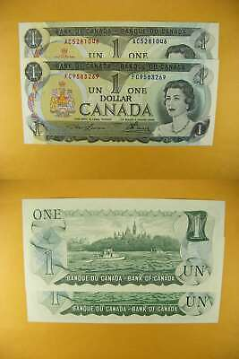 3345 Canada Lot of 2 1973 $1 GemUNC