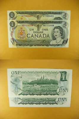 3347 Canada Lot of 2 1973 $1 GemUNC