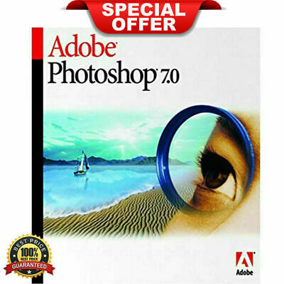 Adobe Photoshop 7.0✔️✔Photo Editing Software✔️✔️Official Download+Serial Key✔️✔️