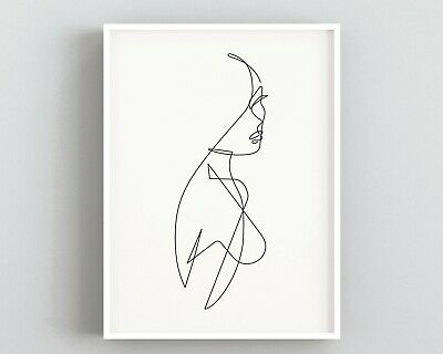 Line Art Woman Print,Abstract Wall Art,Minimalist Print,Scandi Art,Bedroom Decor