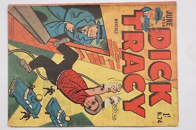 Dick Tracy comic book No. 74 issued Jun 1956