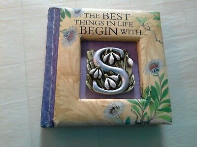 The Best Things in Life Begin with S, gift book with embossed S in cover